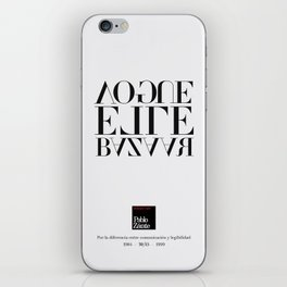 Legibility ain't communication (Piece 06/08) iPhone Skin