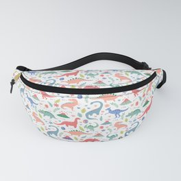 Dinos + Volcanoes - Coral Fanny Pack