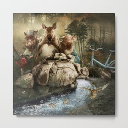 """""""Hog Wild"""" Metal Print"""