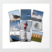 nautical Art Prints featuring Nautical by Anne Seltmann