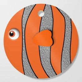 Orange ornamental fish cartoons Cutting Board