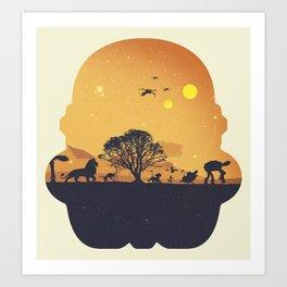 Starking Art Print