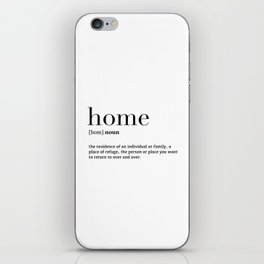 Home definition iPhone Skin