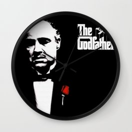 The Godfather Movie Artwork for Prints Posters Tshirts Men Women and Kids Wall Clock