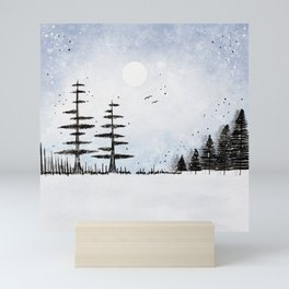 Winter Scene Mini Art Print