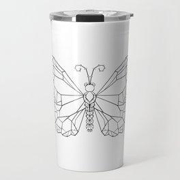 Polygonal Butterfly Monarch Travel Mug