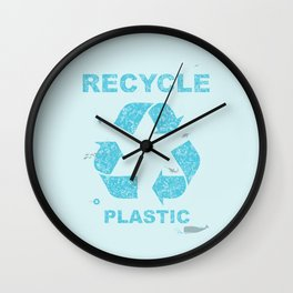 Recycle Plastic Wall Clock