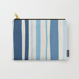 Abstract Striped Blue Art Print Carry-All Pouch