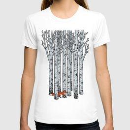 Fox in the Birches T-shirt