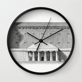 Example of the Predominance of Full on Voids of Prison dAix in Provence built by Ledoux (1862) from Wall Clock