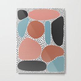 Dots and Shapes Metal Print