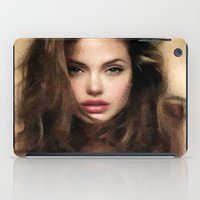 angelina jolie iPad Cases featuring Angelina Jolie Hair by Brian Raggatt