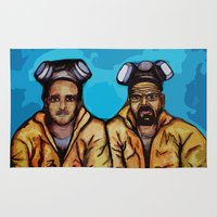 jesse pinkman Area & Throw Rugs featuring Breaking Bad (Walter White Heisenberg jesse pinkman) by EllipsisArts