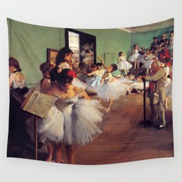 Degas The Dance Class Wall Tapestry