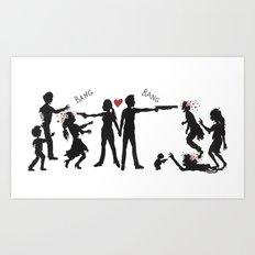 Zombie Hunting II Art Print