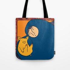 Golden Pig Tote Bag