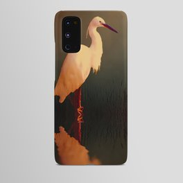 Midnight Egret Android Case