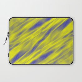 A pastel cluster of yellow bodies on a light background. Laptop Sleeve