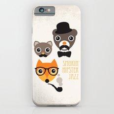Hipster mustache animal jazz illustration design Slim Case iPhone 6