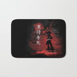 Black Samurai Red Death Bath Mat