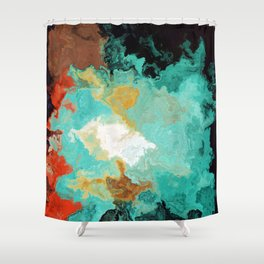 Vibrant Marble Texture no7 Shower Curtain