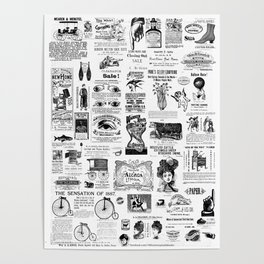 Vintage Victorian Ads Poster