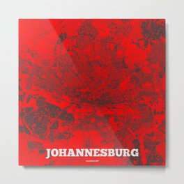 Johannesburg, South Africa street map Metal Print