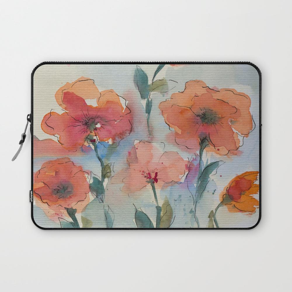 Flowers In Watercolor Laptop Sleeve LSV7871757