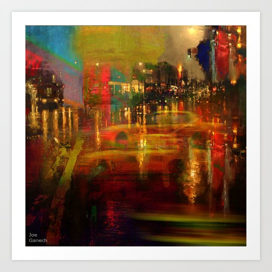 The yellow city of taxis Art Print