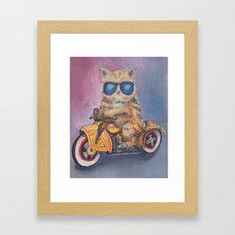 Kitty Cop Framed Art Print