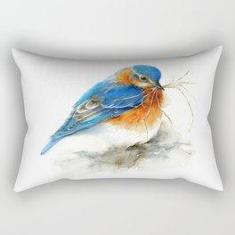 Eastern Bluebird Nesting Rectangular Pillow