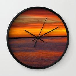 Westside Sunset Wall Clock