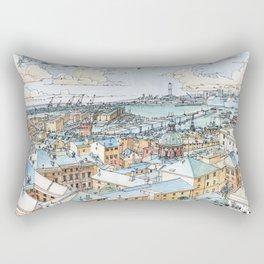 Panoramic of Genoa Rectangular Pillow