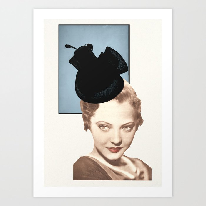 Hat Lady Art Print
