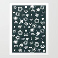 Seaflower mono Art Print