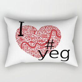 I Heart #YEG Rectangular Pillow