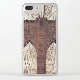 Moody Brooklyn Bridge Clear iPhone Case