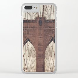Moody Brooklyn Bridge Clear iPhone Case