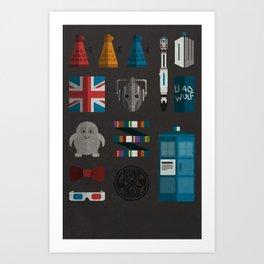 doctor who grid 1 Art Print