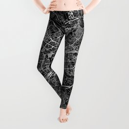 Warsaw Black Map Leggings