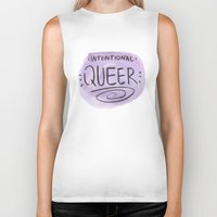 queer Biker Tanks featuring Intentional Queer by StarkissCreations
