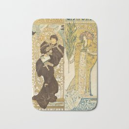 "Alphonse Mucha ""Théâtre de la Renaissance: Lorenzaccio / Gismonda"" Bath Mat"