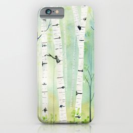 Birch Trees 2  iPhone Case