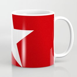 white star on red background Coffee Mug