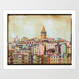 Istanbul city Turkey Art Print
