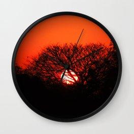 Sunset 45° Wall Clock