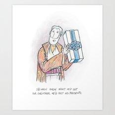Obi-Wan Felt His Presents Art Print