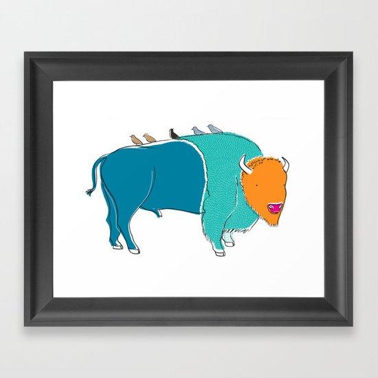 Bristol Bison Framed Art Print
