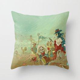 The parade Throw Pillow
