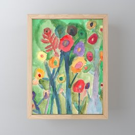 Flower from the Toxic Forrest Framed Mini Art Print